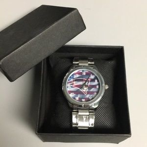 🆕 New England Patriots Watch With Box